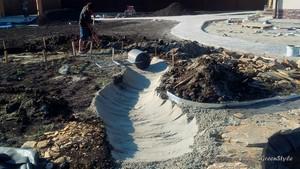 Ландшафтное проектирование - Устройство ручья в Марусино