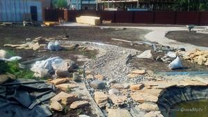 Ландшафтный дизайн - Устройство ручья в Марусино